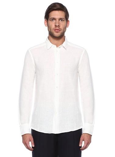 %100 Keten Uzun Kollu Gömlek-Barena